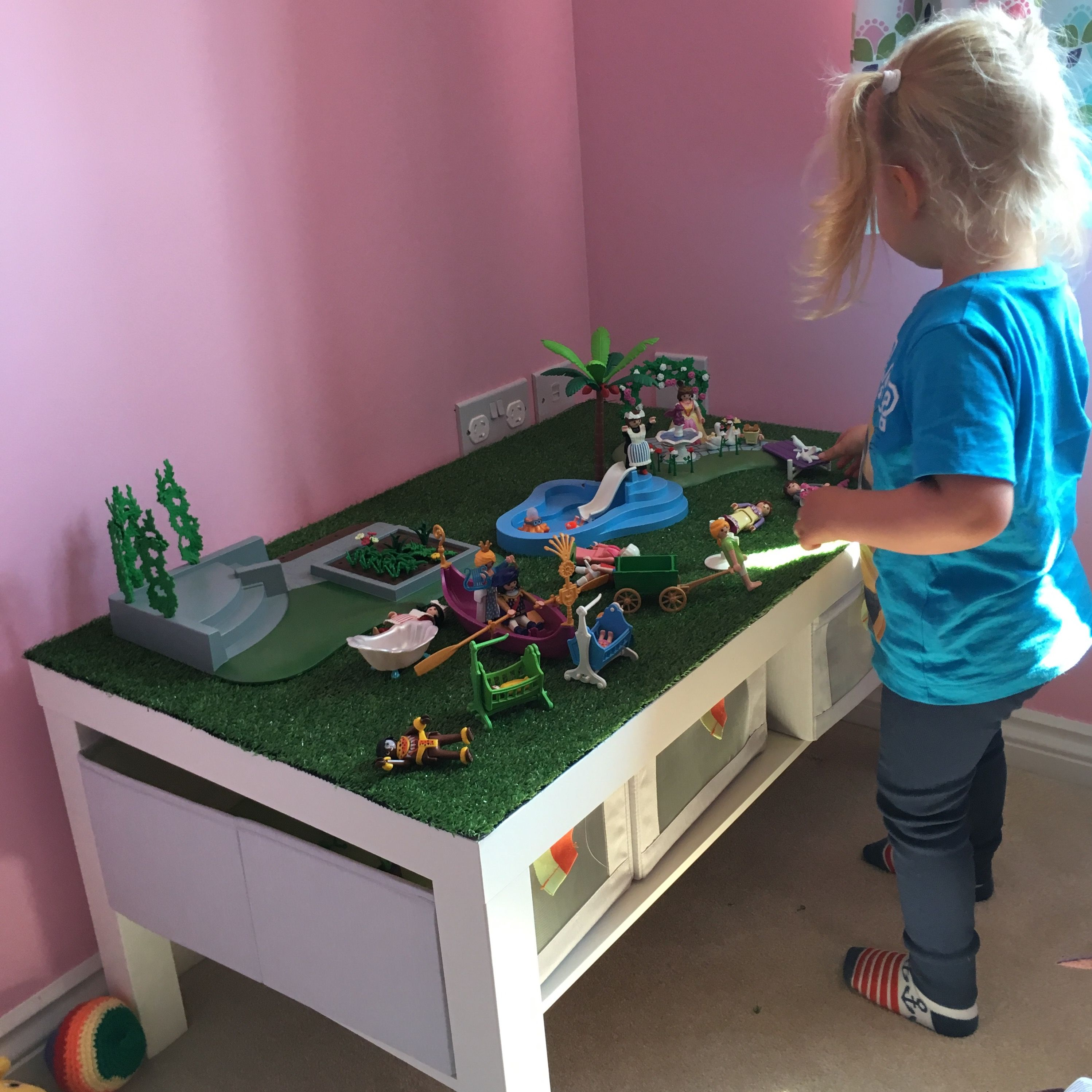 Ikea Lack Coffee Table Hack For Little Lady S Playmobil