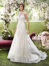 2016 Designer Wedding Dresses by Novia d'Art High Neck ...