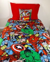 Marvel Avengers Bedding Set- Geeky Comic, Iron Man Thor ...