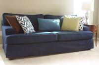 Sofa covered in blue denim. | Denim Fabrics | Pinterest ...