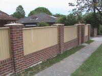 brick wall fence design ideas - Google Search | House ...