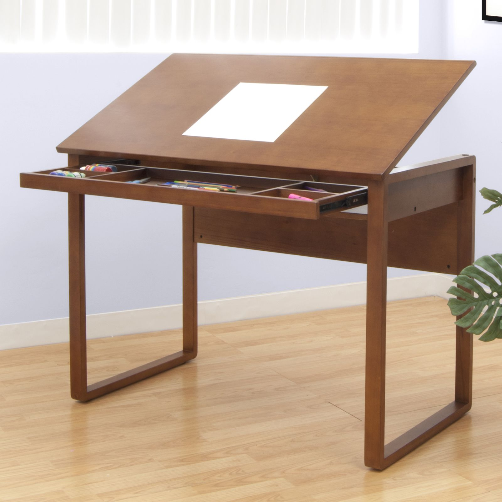 Drafting Table Design Ponderosa Wooden Drafting Table By Studio Designs Warm