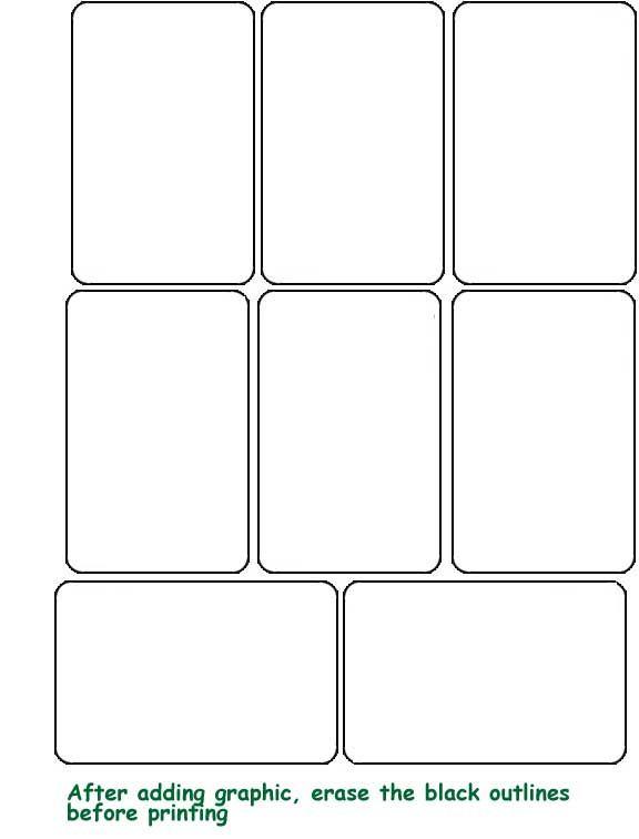 Blank Template hrací karty Projekty na vyzkoušení Pinterest - blank card template