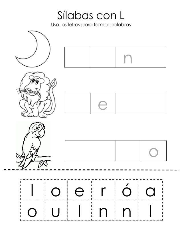 libro magico para fotocopiar 1 auto electrical wiring diagrams u00edlabas con l usa las letras para formar palabras l o e r