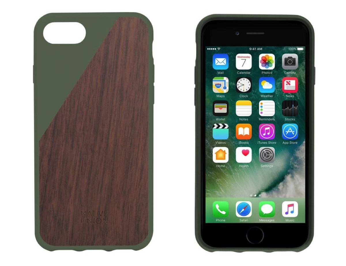 Home Accessoires Online Shop Native Union Clic Wooden Case Iphone 7 Olijfgroen Shop Online
