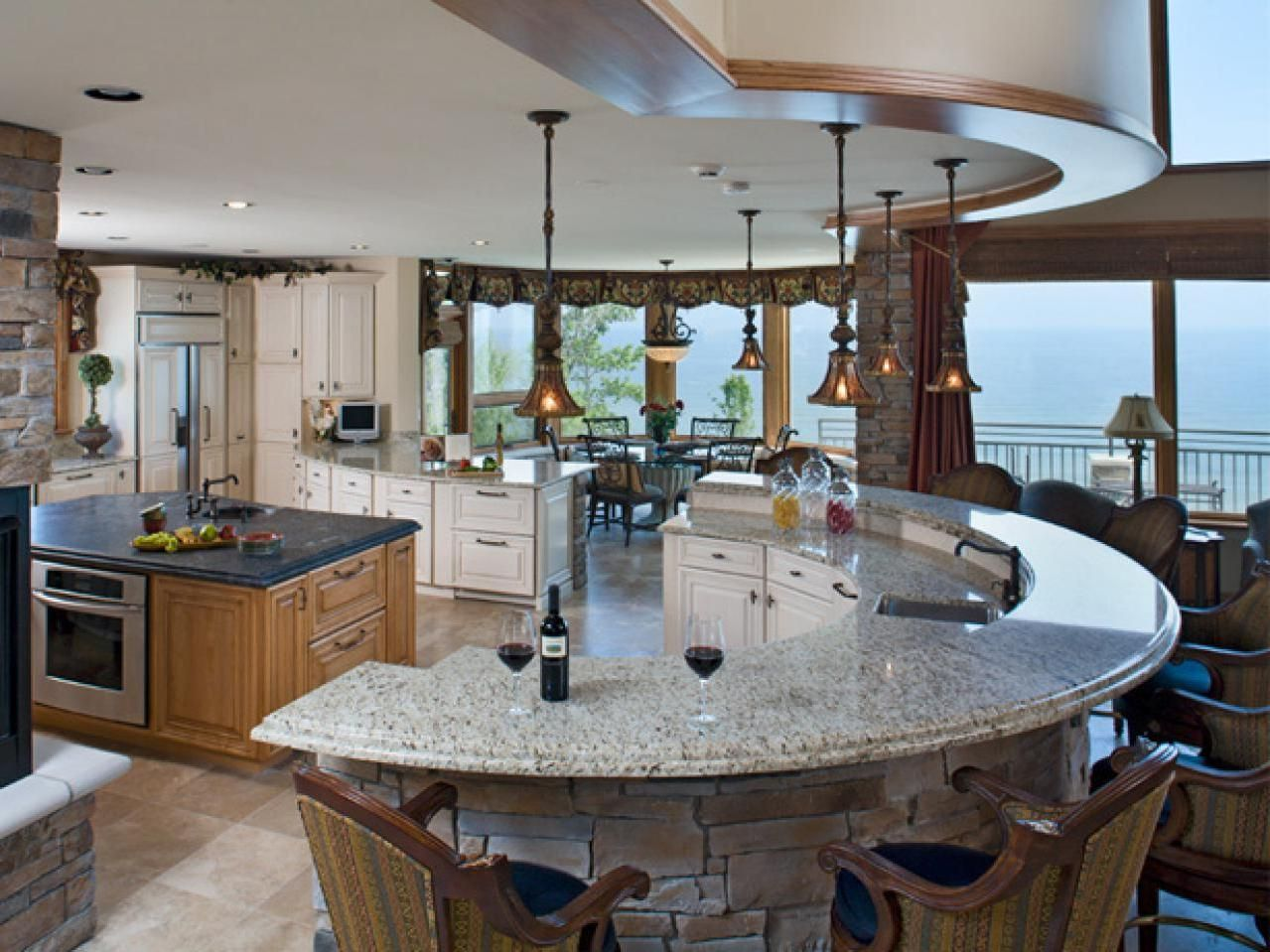 Kitchen Design With Round Island Classic Dream Kitchen Design With Half Round Shape