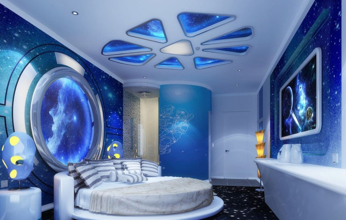Galaxy Lights For Bedroom Kids Room Shining Star Ceiling Ideas Galaxy Space Scheme