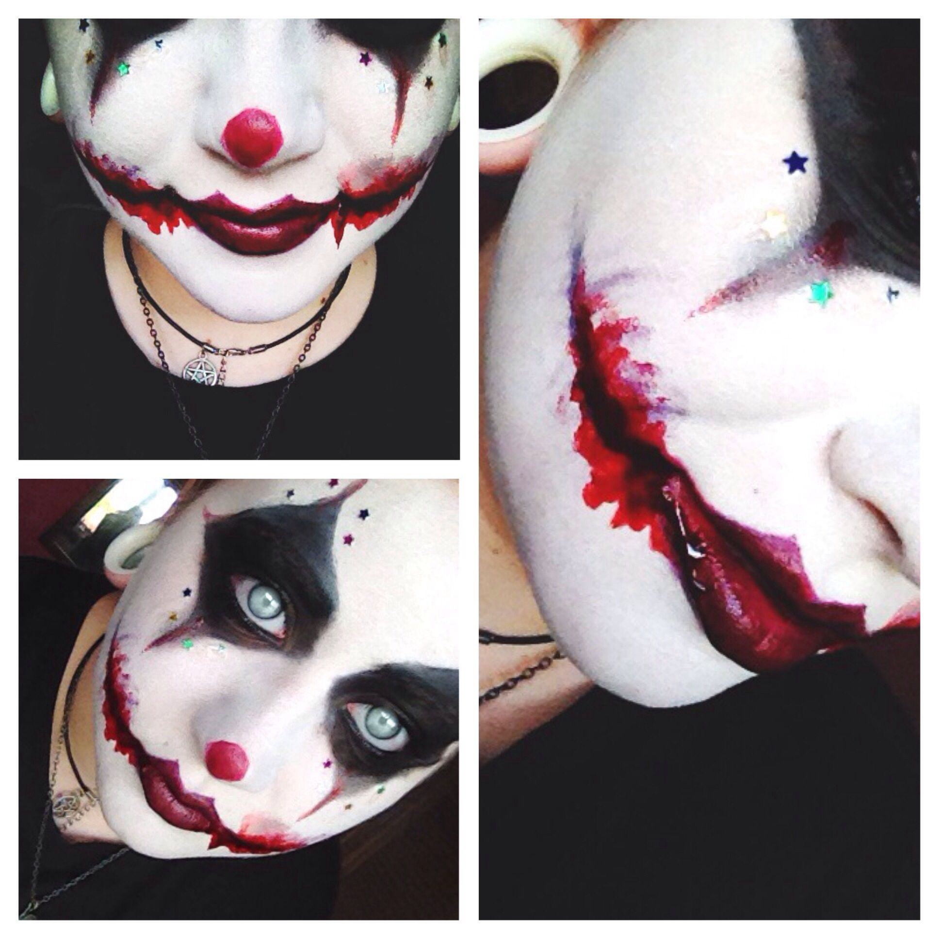 Schmink Ideen Scary Clown Makeup Perfect For Our Family Costumes This