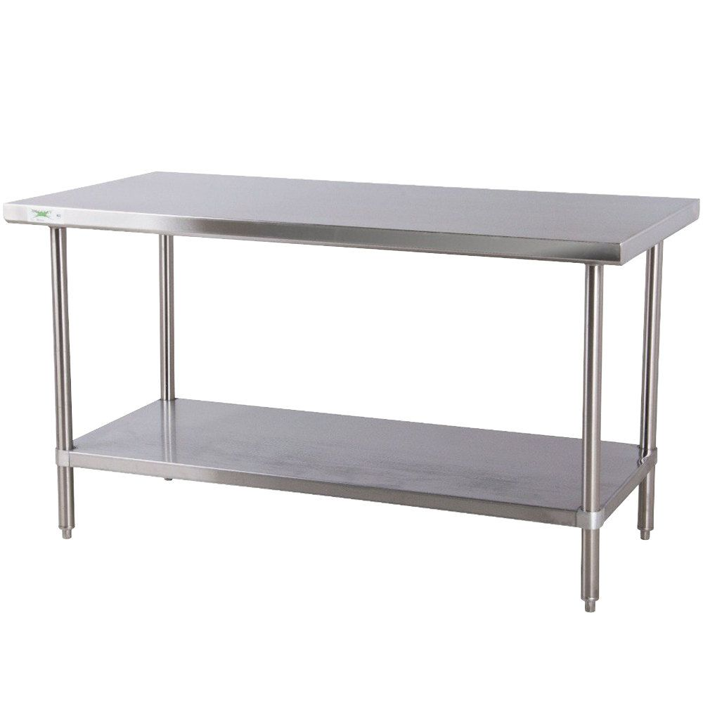 stainless steel kitchen table Regency 30 72 16 Gauge Stainless Steel Commercial Work Table with Undershelf