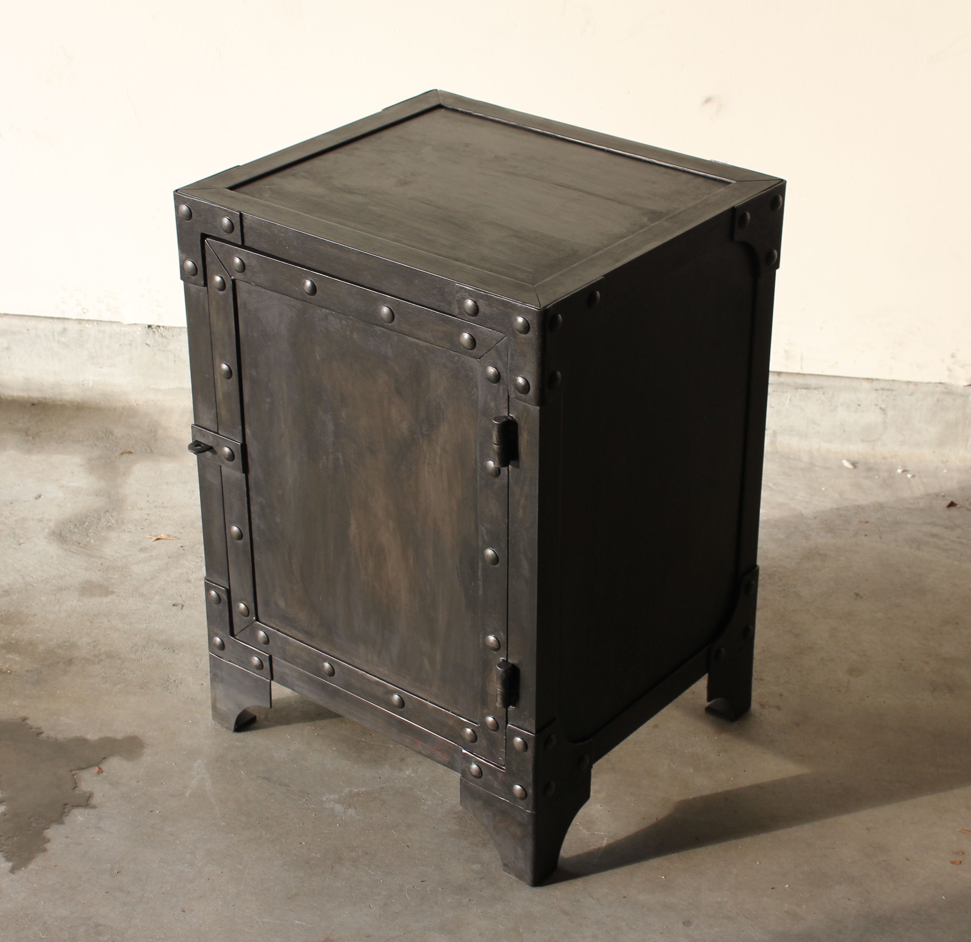 Industrial Look End Tables All Steel Industrial Style End Table Side Table Cabinet