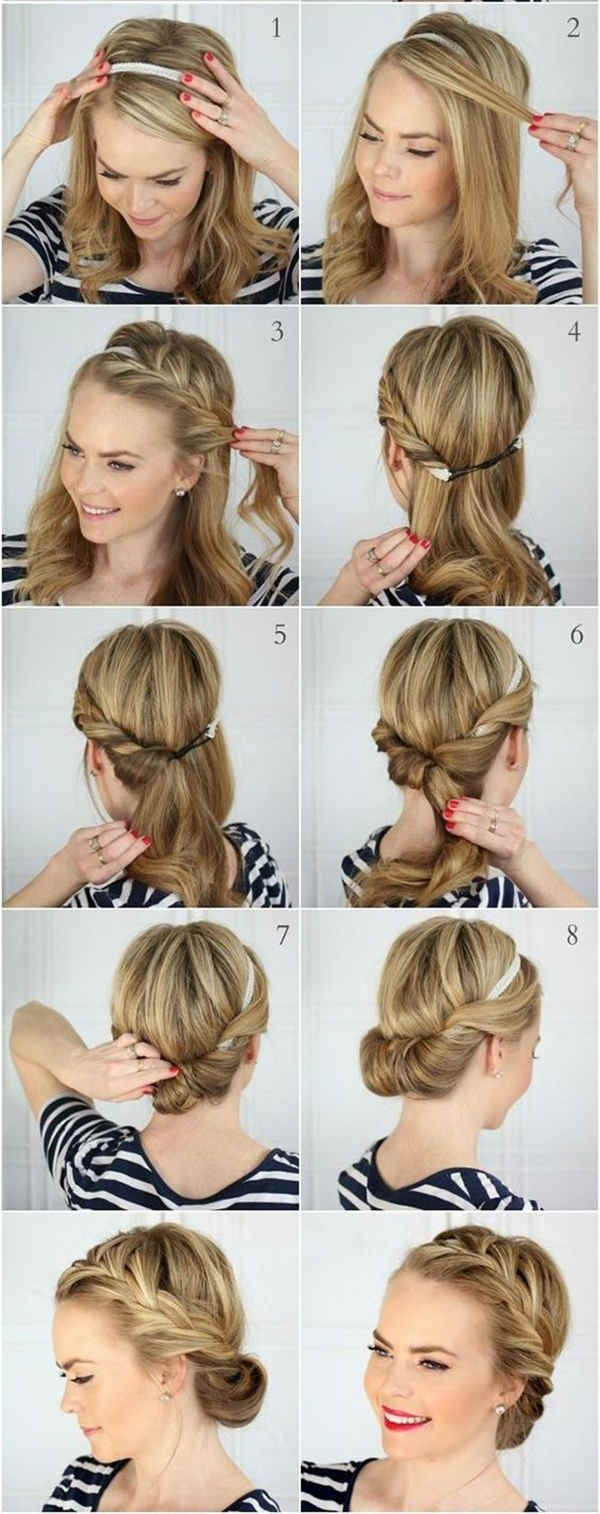 Bun hairstyle with detailed steps and pictures within 5 steps
