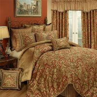 Botticelli Gold and Red 4 Piece Comforter Set by Austin ...