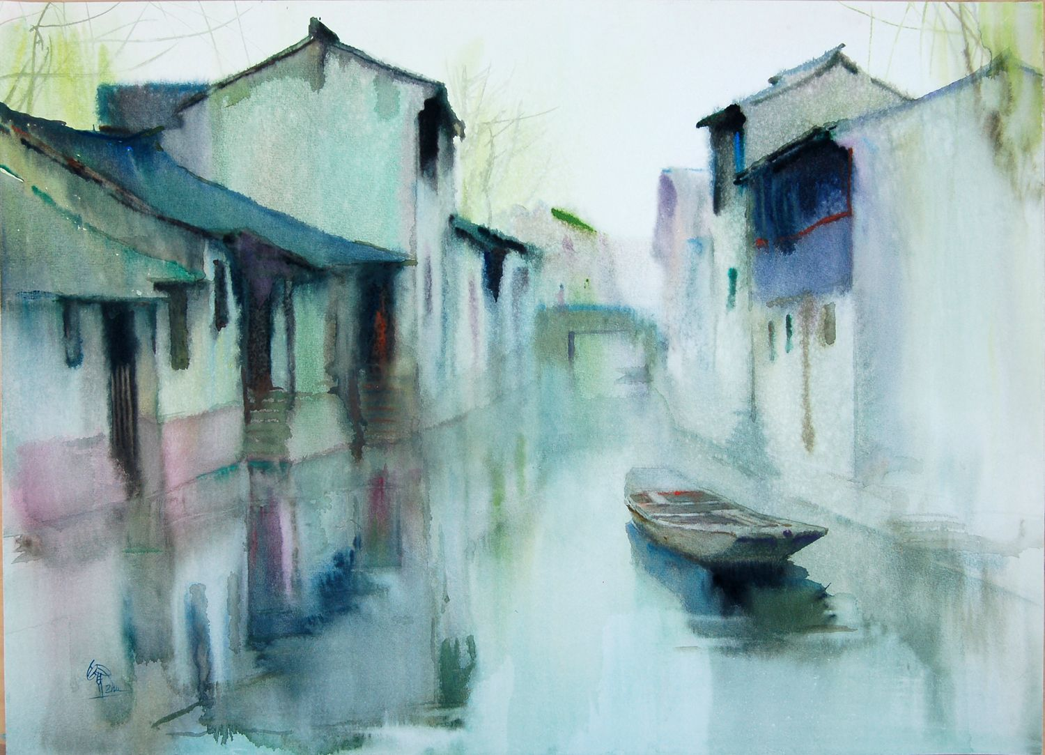 Watercolor paintings chinese watercolor art society houston to host major international exhibit