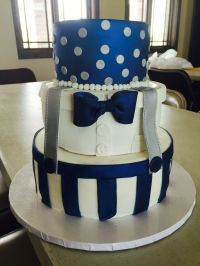 Handsome baby boy baby shower cake bow ties and suspenders ...