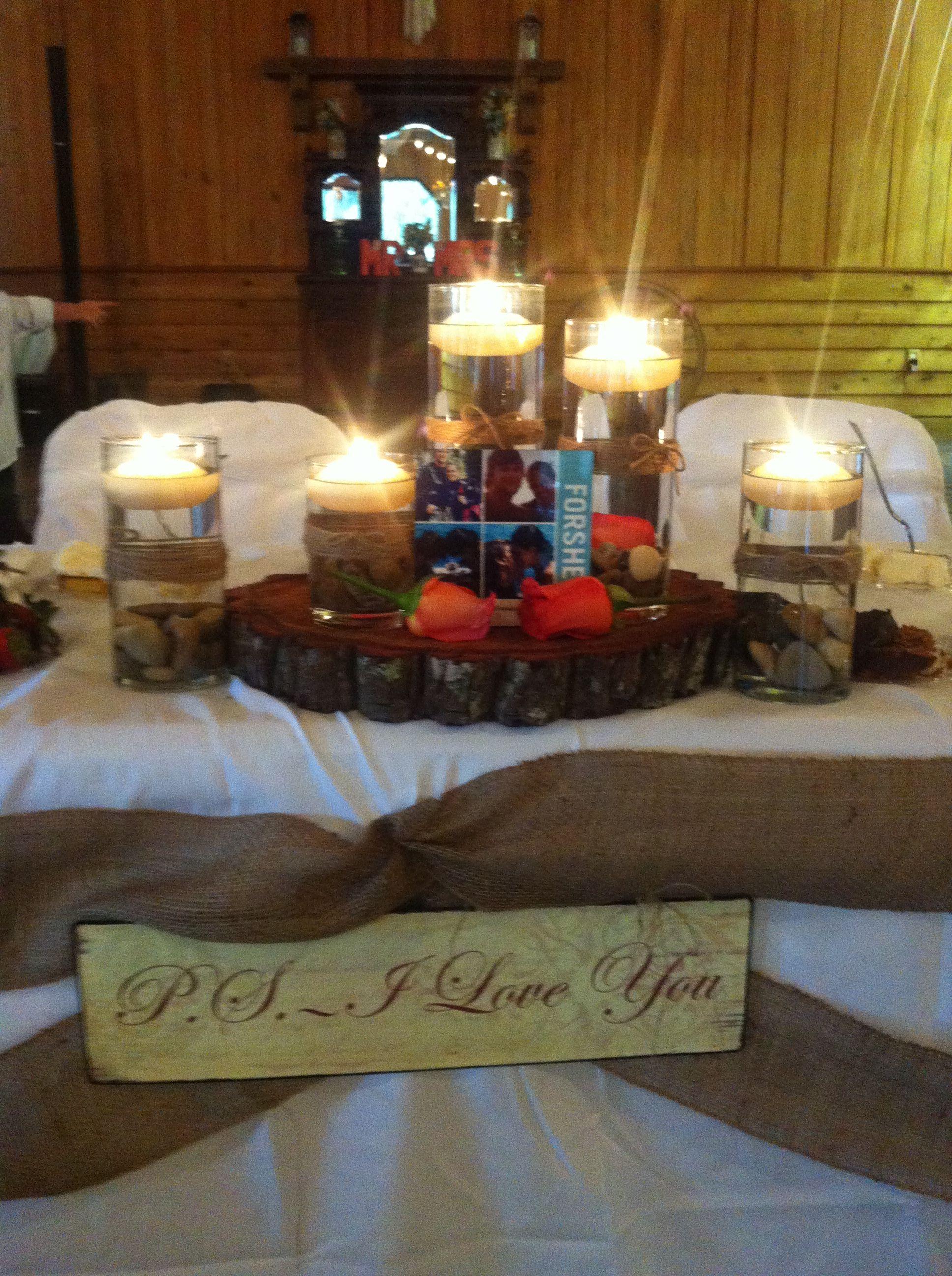 Country Wedding Sweetheart Table Setting