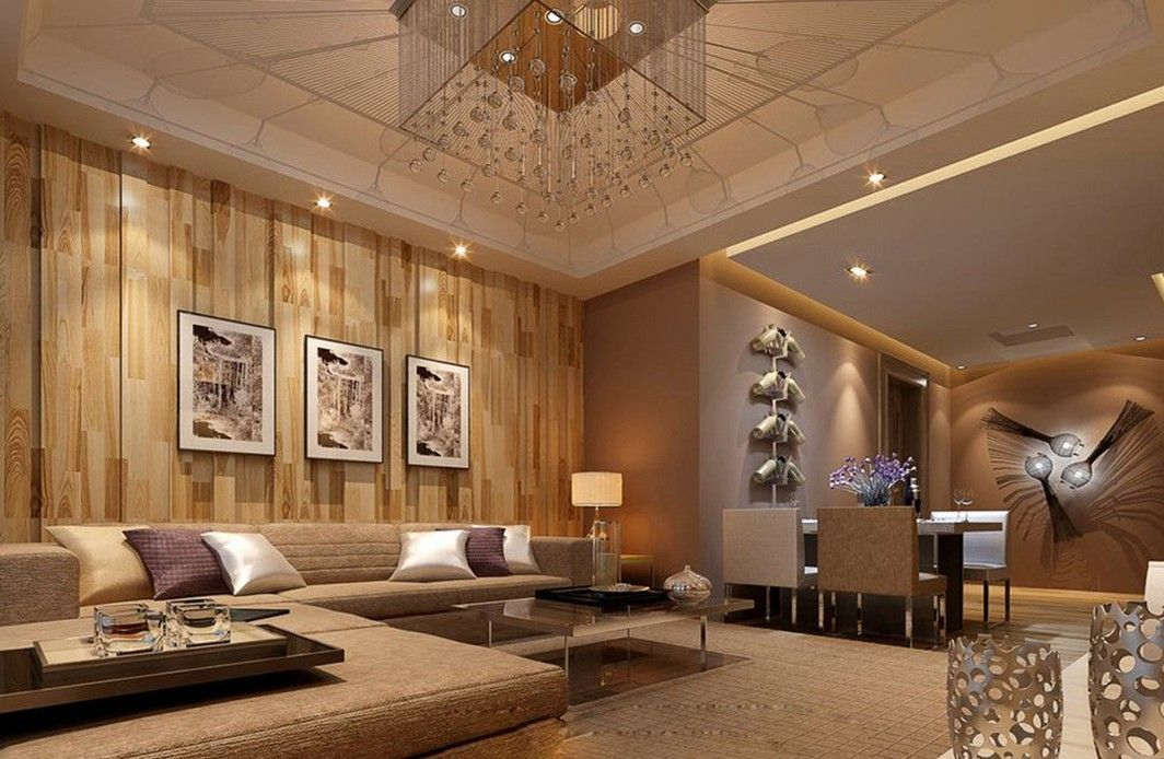 Chinese-style-living-room-wooden-wall Interior Designer - wood wall living room