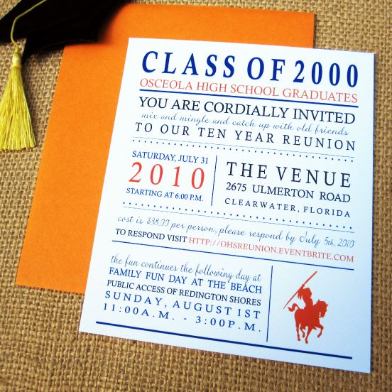 Class Reunion Reunion Invitation Ideas and Designs Class - class reunion invitation template