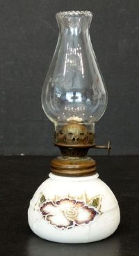 Vintage 1800's ANTIQUE Victorian MILK GLASS Kerosene ...