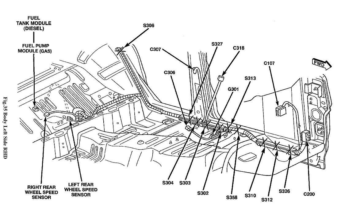 jeep liberty ground wire diagram