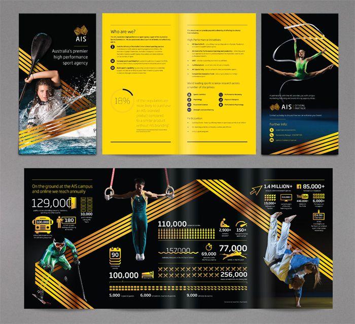 Australian Institute of Sport Brochure design, infographics, http - sports brochure