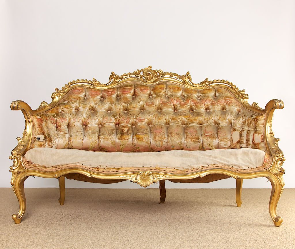 19th century french rococo style louis xv settee rococo