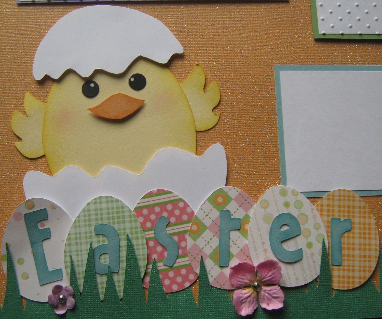 Easter premade 12x12 scrapbook page layout