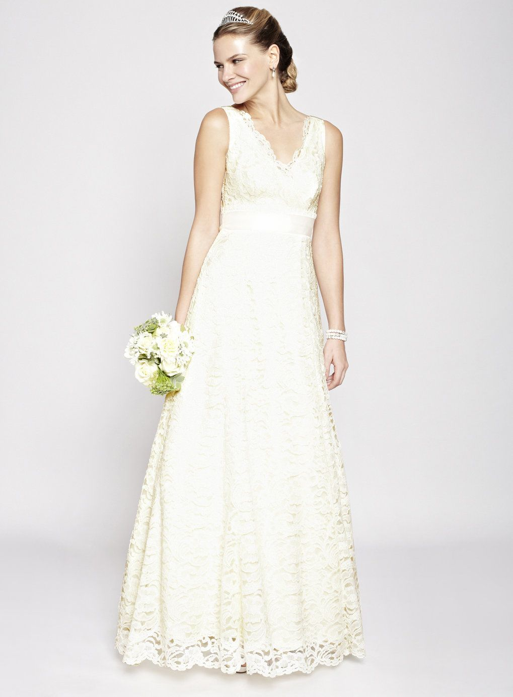 ivory wedding dresses Ivory Bella Lace Wedding Dress BHS