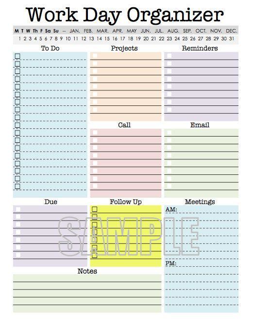 20 Printables that Will Help Organize Everything Popular pins - daily planner sheets