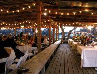 greek wedding reception at a pavilion | Pinspot lighting ...