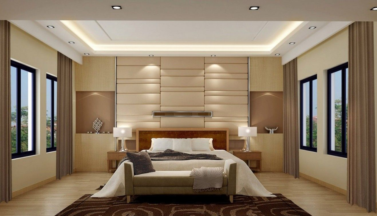 Modern bedroom main wall design ideas