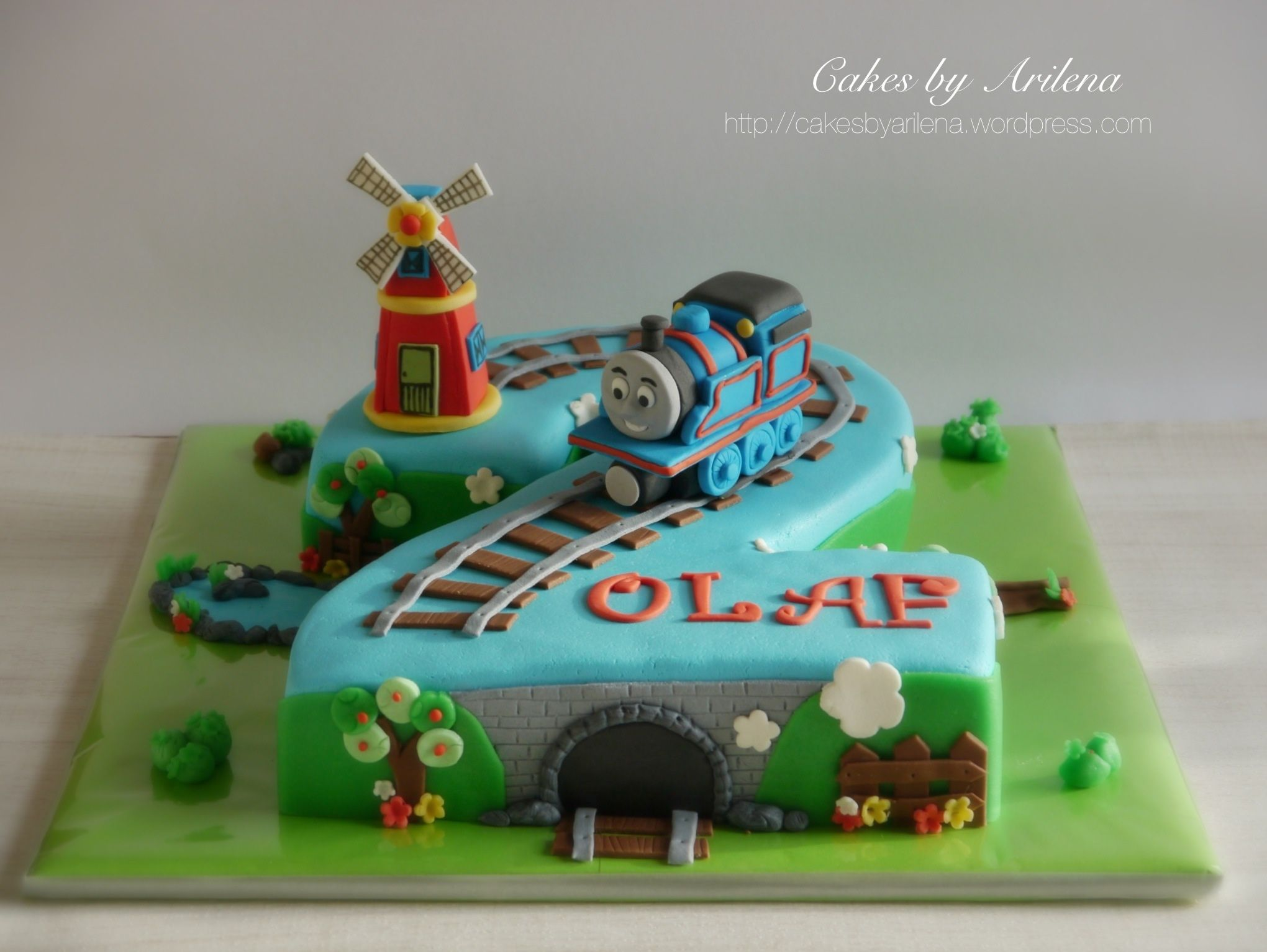 Kuchen Lokomotive Thomas The Train And Windmill Cake Cakes And More
