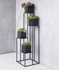 Quadrant Plant Stand with Four Planters in Garden, Patio ...