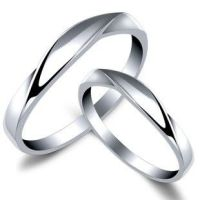 925 Fine Silver Platinum Plating Couple Rings Korean ...