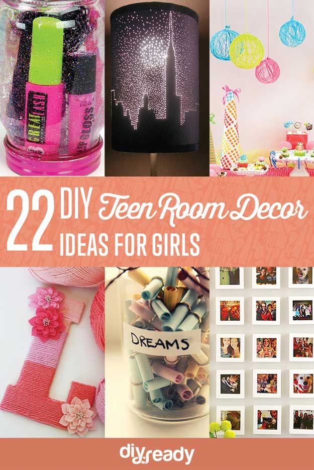 22 Easy DIY Teen Room Decor Ideas for Girls by DIY Ready at http - diy teen bedroom ideas