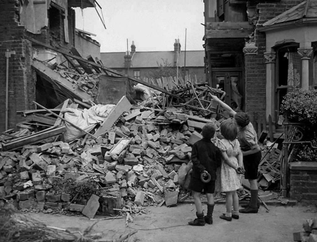 After World War Two Rendered Homeless By German Bombs During The Blitz, A