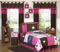 Western horse cowgirl kids twin size bed bedding comforter