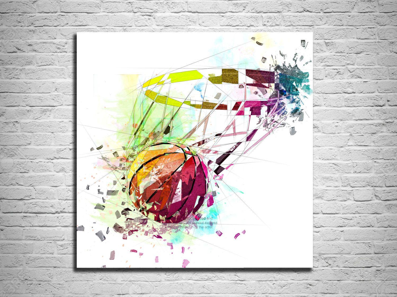 CANVAS PRINT Basketball Art, Sports wall art, Basketball
