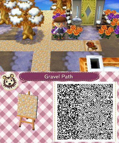 Fall Wallpaper Animal Crossing New Leaf Animal Crossing Gravel Path Qr Code Animal Crossing New
