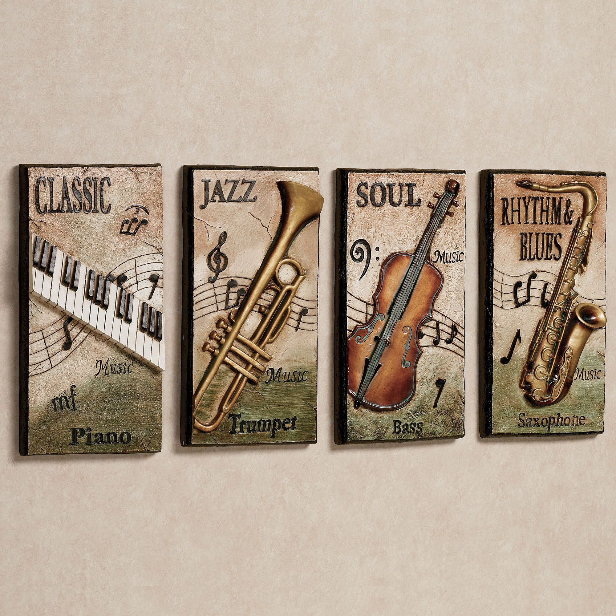 Music Themed Decor Blues Wall Plaque Decor Music Themed Rooms Pinterest