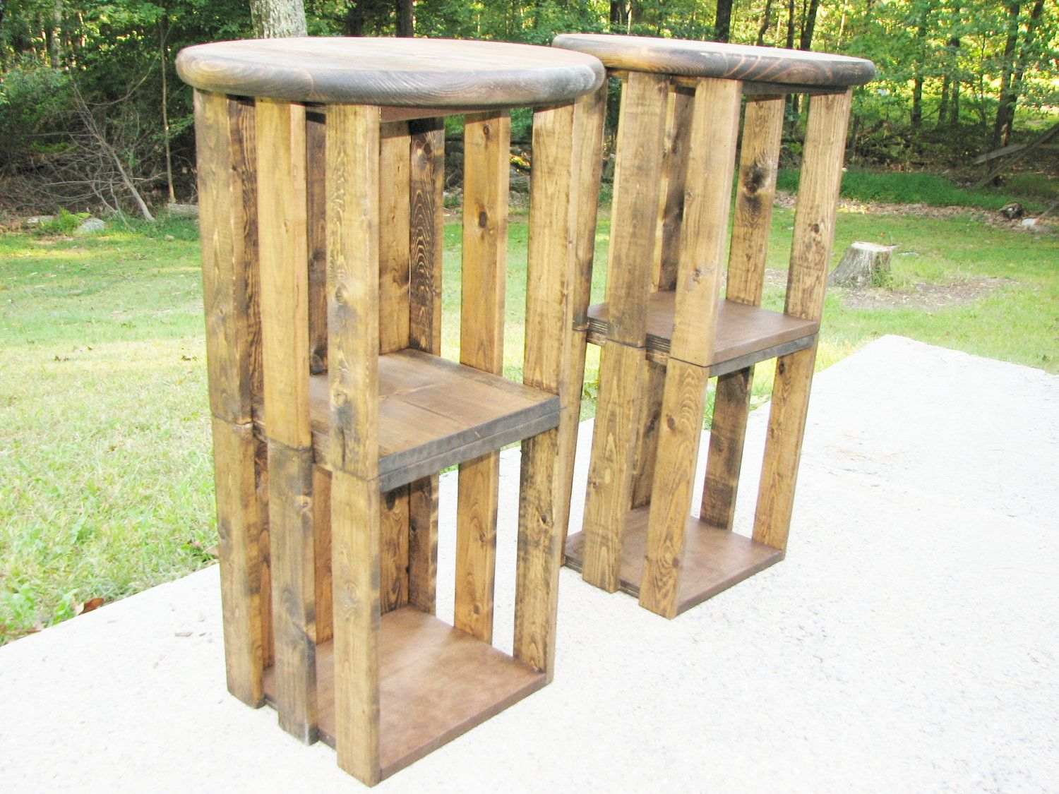 Rustic Modern Counter Stools Wood Bar Stool Free Shipping Rustic Industrial Crate