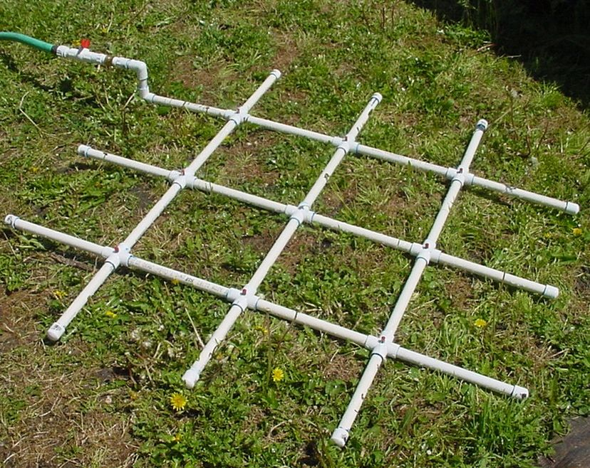 DIY PVC Square Foot Water Sprinkler Square foot gardening - garden irrigation design