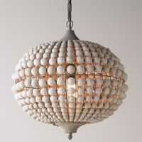 Bohemian Wood Bead Pendant Light