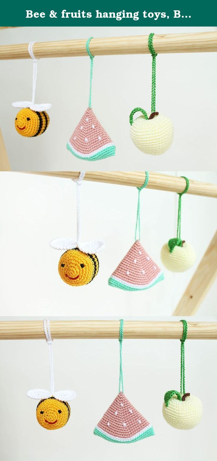 Bee fruits hanging toys baby play gym toy crib toy baby rattle