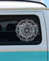 Flower Mandala Vinyl Window Decal - Car Sticker - Car ...