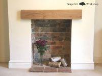 Solid Oak Mantle, Fireplace Lintel Beam, Mantel Shelf ...