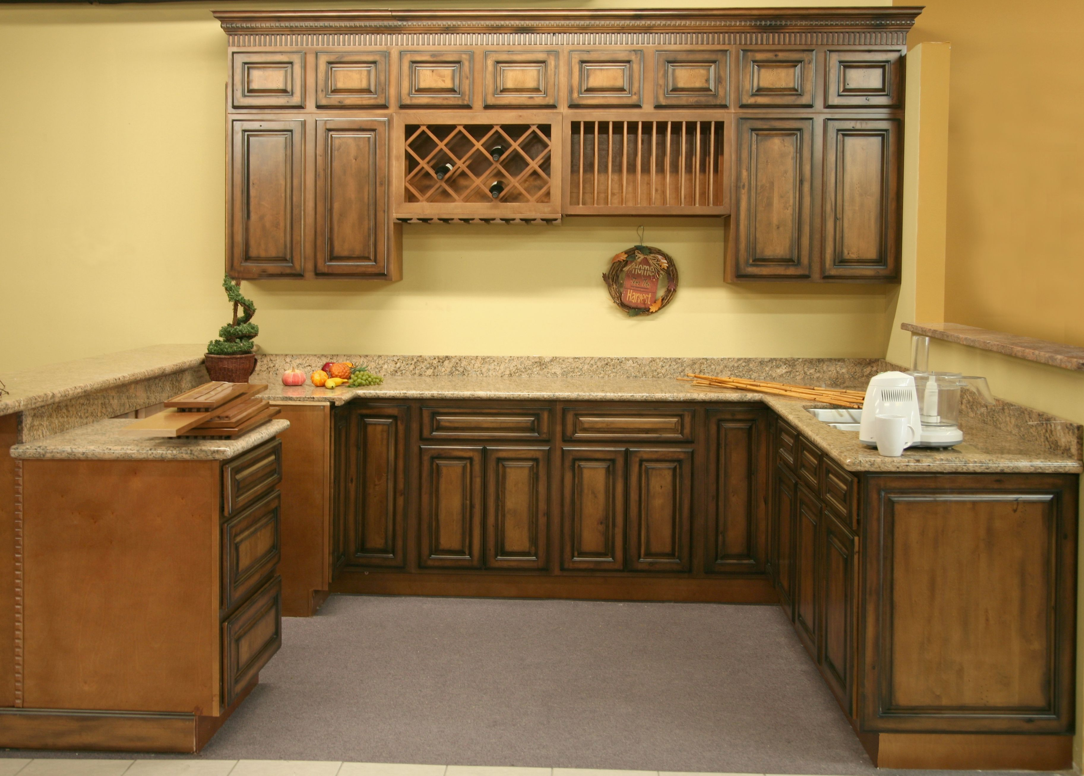 Kitchen cabinets rustic pecan maple kitchen vanity cabinets with easy cam lock