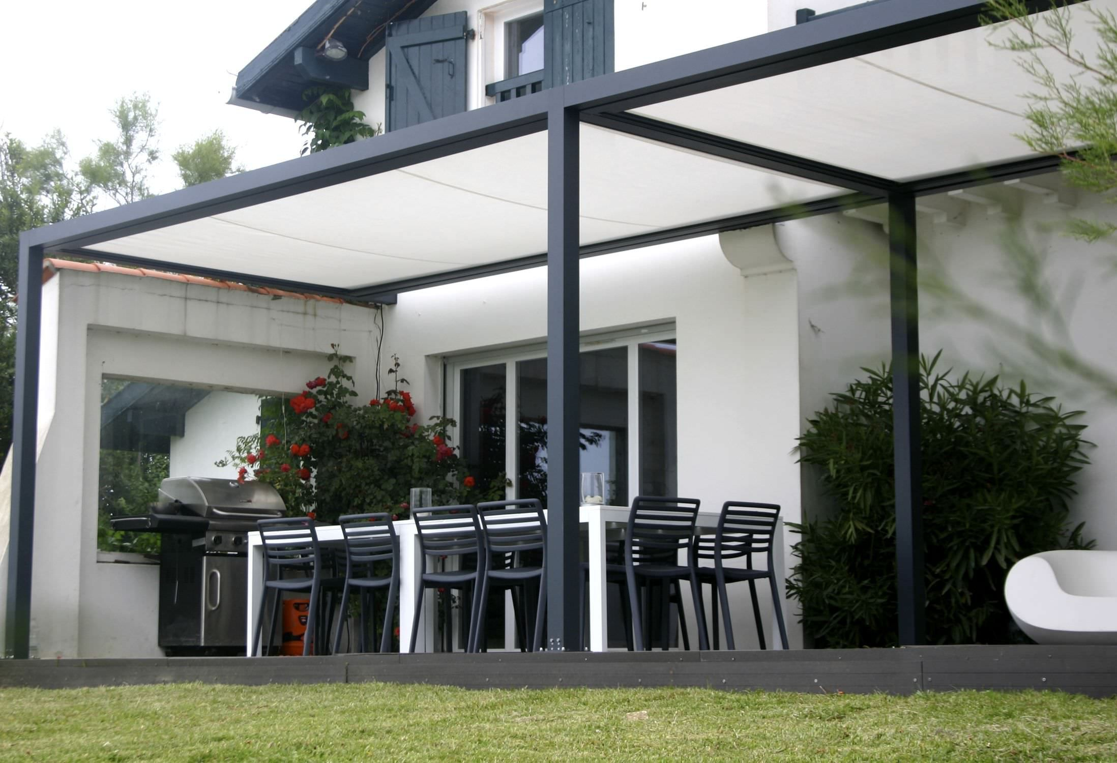 Design Terrasse Self Supporting Pergola Aluminium Pvc Fabric Sliding
