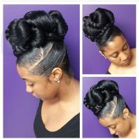 Beautiful Updo on nautual African american Hair