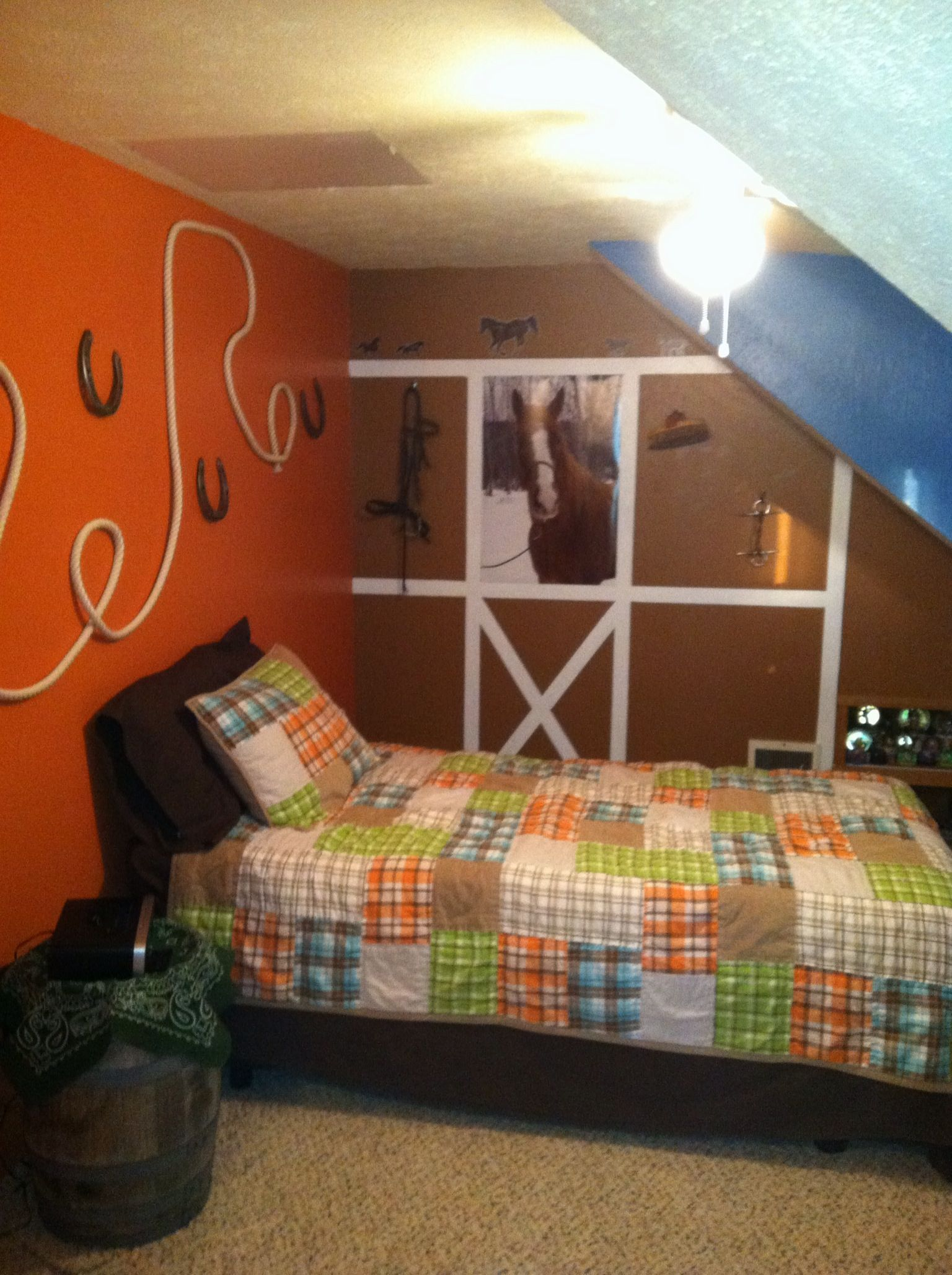 Girl Themed Bedrooms Country Horse Themed Bedroom My Boys Room Pinterest