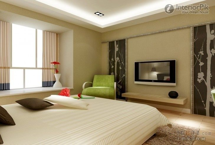 Master Bedroom TV Background Wall Decoration Effect - http\/\/www - tv in bedroom ideas